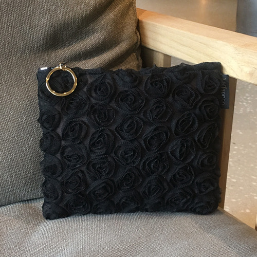 [Pouch] Black Rose /20%SALE/