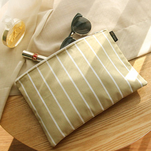 Stripe Beige Clutch /30%SALE/