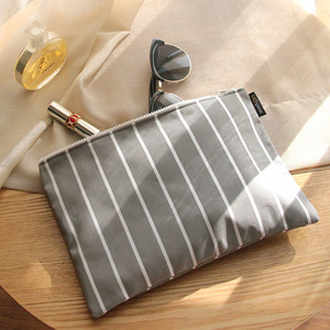 Stripe Gray Clutch /30%SALE/
