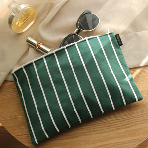 Stripe Green Clutch /30%SALE/