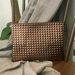 [Pouch] Metallic Brown /25%Sale/
