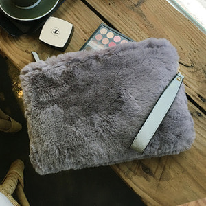 Fur Clutch Gray /25%SALE/