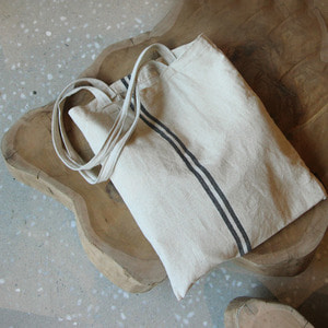 Natural blue line Bag