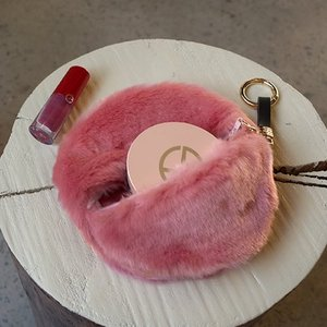 [Pouch] Fur Circle Pink /30%SALE/