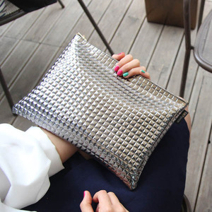 Metallic Silver Clutch