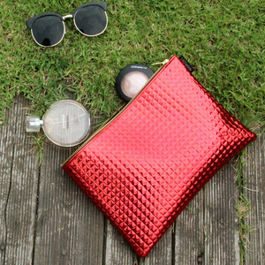 Metallic Red Clutch