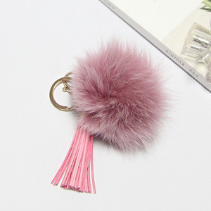 FOX FUR KEYRING-Pink/20%Sale/