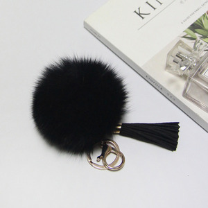 FOX FUR KEYRING-Black/20%Sale/