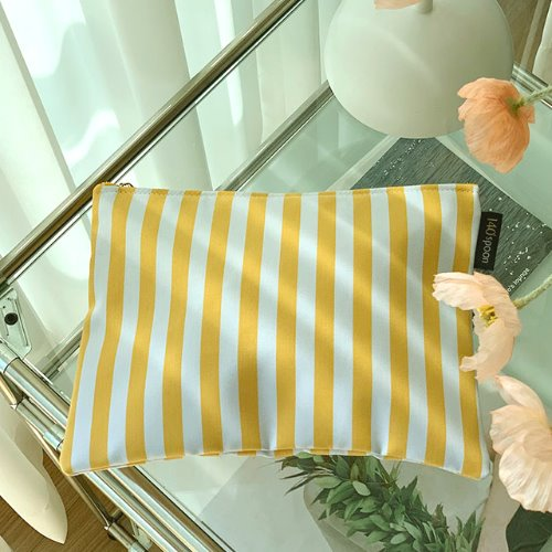 [Pouch] Yellow Stripe /30%SALE/