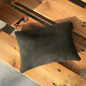 Square Clutch - charcoal gray /20%SALE/
